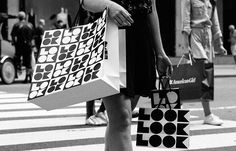 """Saks 5th Ave new campaign LOOK designed by Pentagram used the word LOOK as  a """"bold, attention-getting graphic motif that invites shoppers to explore  the store and its style.""""      """"Saks is not just a place to buy things,"""" says Terron Schaefer. """"It's     the ideal place to 'LOOK' for what's new and what's trending."""""""