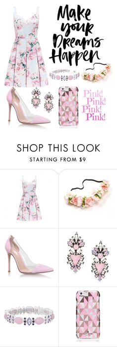"""""""Make your dreams happen"""" by smile777777 ❤ liked on Polyvore featuring beauty, Forever New, Gianvito Rossi, Erickson Beamon, Monet and Kate Spade"""