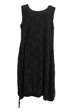 AKH Fashion Lagenlook Spitzen Kleid zweilagig in schwarz XXL Mode bei www.modeolymp.lafeo.de