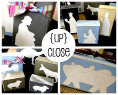 Homemade block nativity set for the little kiddos to set up, knock down and play with over and over!