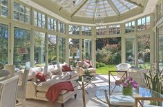 A Bright Space Is Created With Generous Proportions #conservatorygreenhouse