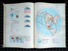 Herbert Bayer - World Geo-Graphic Atlas from 1953 by Michael Stoll, via Flickr