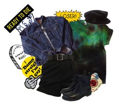 """""""Sin título #307"""" by starscounter394 on Polyvore featuring Levi's, Burberry y Dr. Martens"""