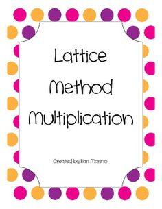 math worksheet : 1000 images about math on pinterest  multiplication  : Lattice Method Multiplication Worksheet