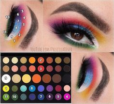 morphe x james charles palette pictorialYou can find Makeup looks with james charles palette and more on our website.morphe x james charles palette pictorial Makeup Without Eyeliner, Makeup Eye Looks, Eye Makeup Steps, Eye Makeup Art, Makeup Geek, Wolf Makeup, Face Makeup, Eyebrow Makeup, Make Up Palette