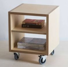 Side Table with Shelf on Ash Feet / Plywood Plinth / Wheels - Baltic Birch Plywood - Customise Design + Materials Plywood Projects, Diy Furniture Projects, Woodworking Furniture, Plywood Furniture, Furniture Making, Cool Furniture, Woodworking Projects, Furniture Design, Bedroom Furniture
