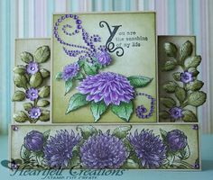 Heartfelt Creations | Sunshine Dahlia Card----I love these Heartfelt collections and this one is just gorgeous!