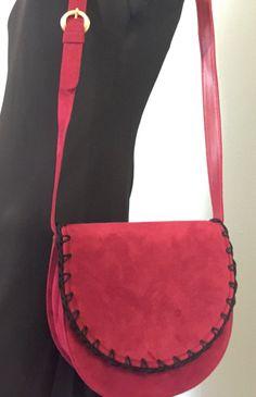Bally Italy Pink Fuscia Black Suede Whipstitch by CraigOandAlice