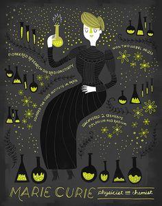 Rachel Ignotofsky a créé cette série d'illustrations qui montrent une sélection…