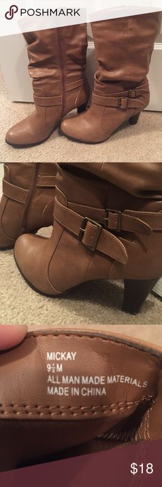 Brown boots Super cute brown boots with small heel! Great condition, only worn a few times. 4th picture shows small wear, but barely noticeable! Shoes Heeled Boots