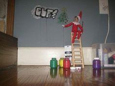 Graffiti Elf -   20 Reasons Not To Trust The Elf On The Shelf