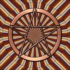 Pôster Pentagrama - Cada ponta do pentagrama representa um dos Cinco Elementos da Natureza: Ar, Fogo, Água, Terra, e um espírito que a todos coordena.  1 - Espírito: é a ponta superior que representa os criadores, são detentores dos 4 elementos e estes elementos são as outras 4 pontas.  2 - Terra: É a ponta que simboliza os mistérios, o lado invisível da vida, a força da fertilização e do crescimento.  3 - Ar: Corresponde à inteligência, ao poder do saber, a força da comunicação e da...
