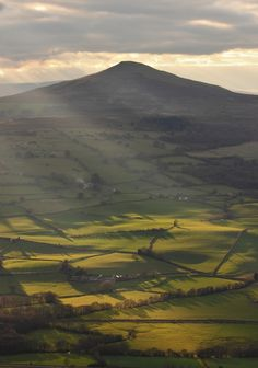 The sugar loaf brecon beacons black mountains wales uk