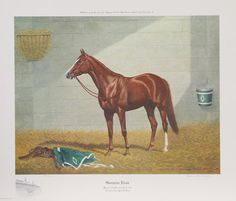 Richard Stone Reeves Print - Genuine Risk, chestnut Kentucky Derby winning filly who ran 1-2-2 in the 1980 Triple Crown with colts.