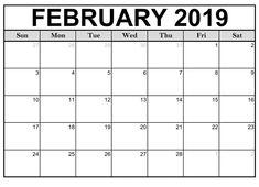 40 Best Free Printable February 2019 Calendar Images On Pinterest In