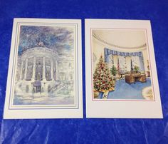 2 Official White House Christmas Cards 1989 1990 President George Bush Barbara   eBay Barbara Bush, Book Gifts, Figurative Art, Good Music, Action Figures, Presidents, Cool Style, Christmas Cards, Gallery Wall