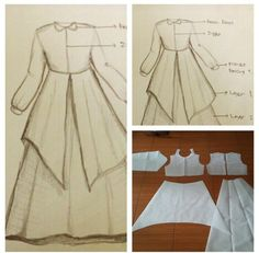 Gamis dress pattern with collar and flare skirt and pleats. Easy Sewing Patterns, Clothing Patterns, Dress Patterns, Fashion Tv, Fashion Sewing, Simple Long Dress, Pattern Draping, Kids Frocks Design, Muslim Women Fashion