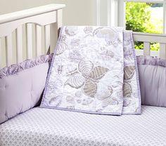 Evelyn Nursery Bedding lavender | Pottery Barn Kids
