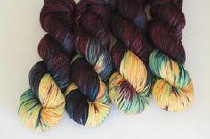 Delilah  Ready To Ship  fluffy 80/20 sock yarn  dark plum