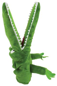 how to make crocodile puppet