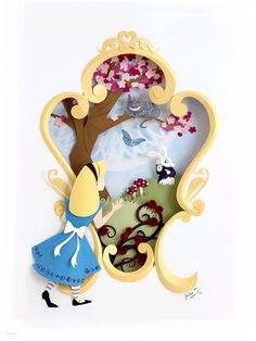 "- Inspired by Lewis Carroll's Alice - Fine Art Giclee Print - Limited Edition of 50 - Approximately 9"" x 12"" © Disney"