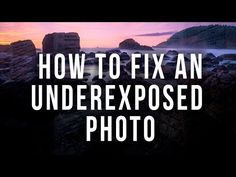 Salvaging Underexposed Photos - EverydayHDR