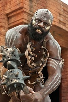 "Kevin 'Kimbo Slice' Ferguson as Zulu Kondo in ""The Scorpion King Black Characters, Fantasy Characters, Character Portraits, Character Art, Black Love Art, Sword And Sorcery, Afro Art, Action Poses, Barbarian"