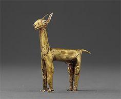 INCA culture 1400 – 1533 AD Llama 1400-1533 AD gold 5.5 (h) x 4.9 (w) cm Museo Oro del Perú, Lima Photograph: Daniel Giannoni
