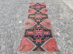 Entry Rug, Hallway Rug, Kitchen Rug, Red Rugs, Small Rugs, Kilim Pillows, Rug Runner, Vintage Rugs, Bohemian Rug