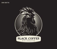 Showcase and discover creative work on the world's leading online platform for creative industries. Rooster Tattoo, Rooster Logo, Coffee Logo, Coffee Coffee, Chicken Logo, Barber Logo, Arte Punk, Chicken Painting, Great Logos