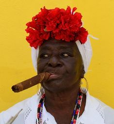 Friday Faces 21 – Cuban cigar chewing woman. ( it had to be done ...