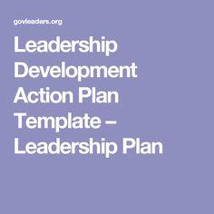 Leadership Development Action Plan Template – Leadership Plan