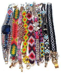 Fancy friendship bracelets.