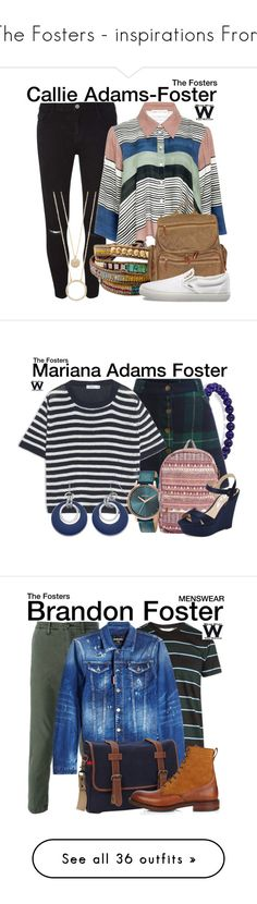 """The Fosters - inspirations From"" by wearwhatyouwatch ❤ liked on Polyvore featuring Dorothy Perkins, Mara Hoffman, NOVICA, Dopp, Vans, Kate Spade, television, wearwhatyouwatch, Max&Co. and Nixon"