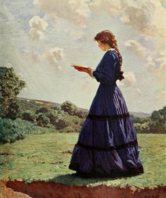 'The Reader' by Harold Knight. Plate from 'The Studio' (1911). Published Leicester Square, London.