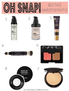Oh, Snap! Best face makeup for photos—15 tips #kissablecomplexions