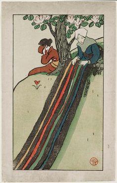 Takehisa Yumeji (1884–1934), The Day She Takes her Vows (Tokudo no hi)