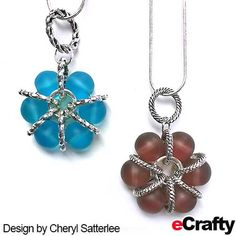eCrafty.com's Sea Glass Beads and Silver Linking Rings come together for these ingenious flower inspired pendants by Cheryl. Just start with your choice of our 10mm sea glass beads, see our…