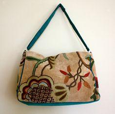 lovely & fun handmade velvet boho bag - might be nice for autumn