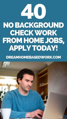 Is it possible to find a work at home job with no background or credit check? Absolutely! Typically companies that involve you having an employee status will require a background check, while freelance jobs and independent contractor jobs do not. These jobs may include internet research, freelance writing, graphic designing, testing websites, and more. Pin this researched list of companies that don't require a background screening or credit check! #workathome #onlinejobs #makemoneyonline Earn Money Online Fast, Earn Money From Home, Make More Money, Work From Home Companies, Work From Home Jobs, Current Job, New Job, Home Based Work, Legitimate Work From Home