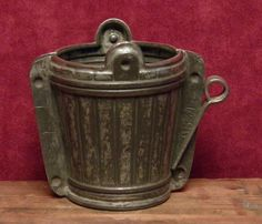 antique two part chocolate mold of a ice bucket Anton Reiche