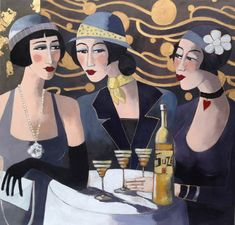 ∴ Trios ∴ the three graces & groups of 3 in art and photos - Marie Godest - Three Friends