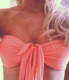 I gotta have dermals one day, maybe like this girl? Pretty type of piercings.