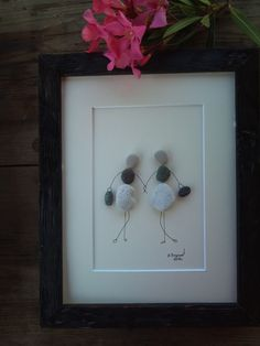 pebble art friends birthdays gift by pebbleartSmiljana on Etsy Stone Crafts, Rock Crafts, Fun Crafts, Wedding Gifts For Friends, Friend Birthday Gifts, Rock And Pebbles, Beach Gifts, Art Friend, Driftwood Art