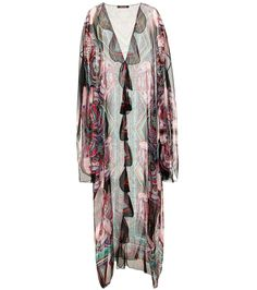 Roberto Cavalli - Printed silk dress - Opt for the fearless style of Roberto Cavalli with this vividly printed dress. Crafted in Italy from whisper-weight silk, this fluid piece comes in a sheer finish and has an elegantly draped silhouette. Layer yours over a lining slip dress for opacity or use it on your next getaway as an ultra-luxe cover-up. seen @ www.mytheresa.com