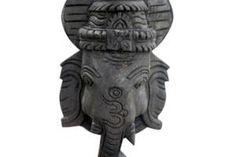 GANESHA FACE MASK (WALL HANGING MEDIUM) Garden Sculpture, Lion Sculpture, Love Statue, Ganesh Statue, Ganesha, Statues, Hilarious, History, Medium