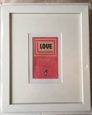 Harland Miller Love Saves The Day Framed Gallery Promotional Card
