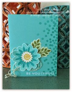 Stampin' Up! Card: Be YOU {tiful} Friend ~ Craft-somnia Momma Flower Patch