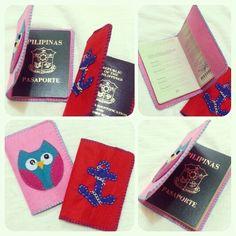 Owl Felt Passport Cover #ilovehandmade