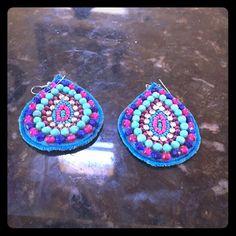 handmade earrings Turquoise beaded handmade earrings Jewelry Earrings